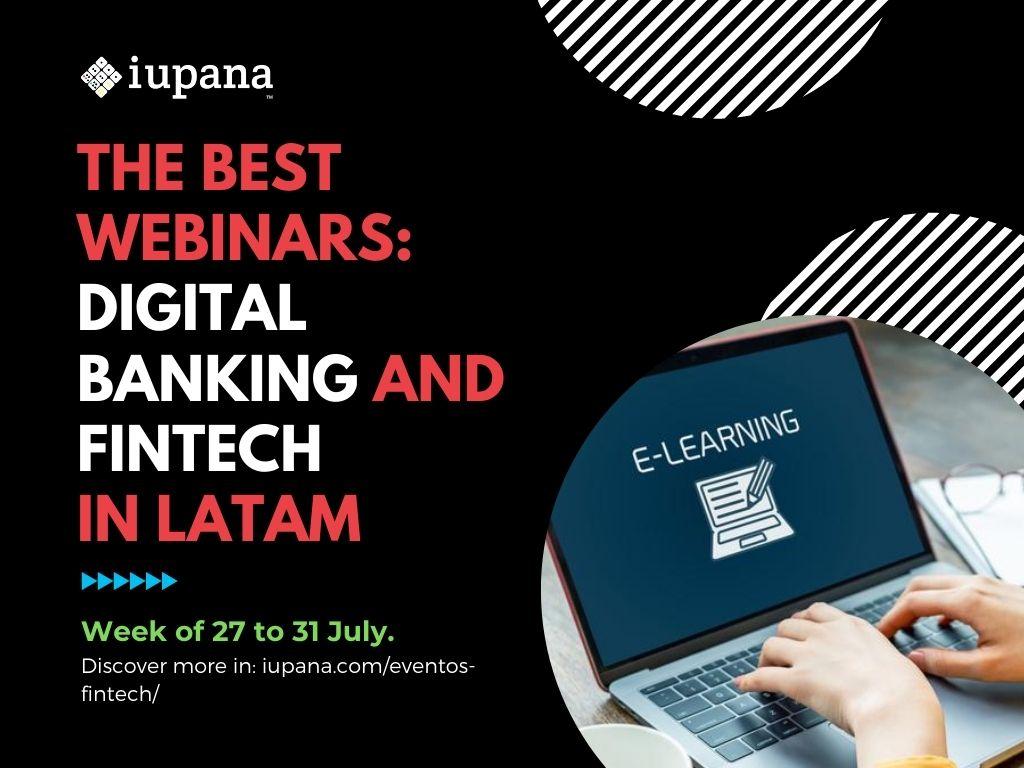 Webinars: Platforms in banking and fintech; Digital bank; AI in digital banking