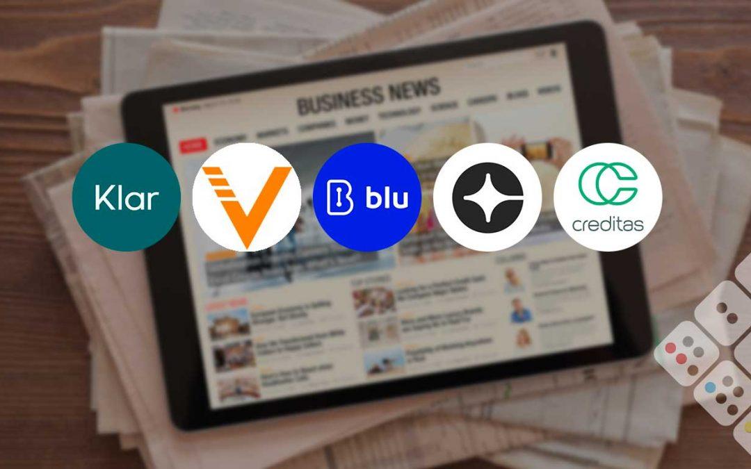 Klar, Blu and Valoreo raise capital – Creditas buys insurtech